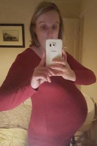 Faye's gorgeous bump - just looks like there's one in there to me!